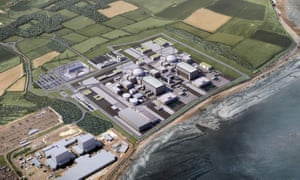 A computer generated image of Hinkley Point C.