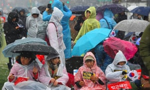 Anti-government protesters in Seoul in November.
