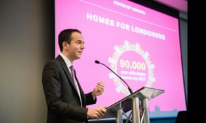 James Murray at the launch of the Homes For Londoners programme.