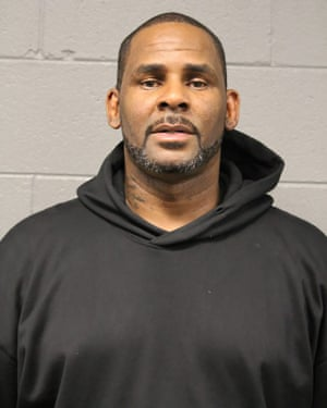 R Kelly's booking photo from the Chicago police department on 23 February.