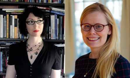Violet Blue (left) and Ásta Helgadóttir (right) both accused Jacob Appelbaum of inappropriate sexual behaviour.