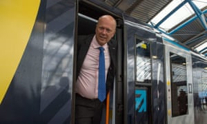 Chris Grayling, the transport secretary. Labour are today calling for his resignation over today's widespread cancellation of services on the rail network.