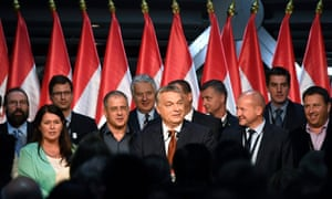 Prime Minister Viktor Orbán delivers a speech after the referendum in the Balna Budapest Cultural Center in Budapest, Hungary