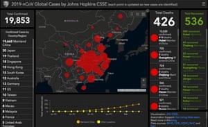 Johns Hopkins University CSSE coronavirus tracker as of 00.07 GMT, Tuesday 4 January, 2020.