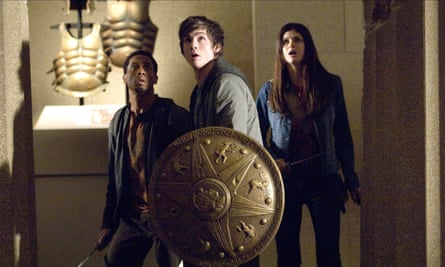 From l-r: Brandon T Jackson as Grover Underwood, Logan Lerman as Percy Jackson and Alexandra Daddario as Annabeth Chase in Percy Jackson and The Olympians: The Lightning Thief.