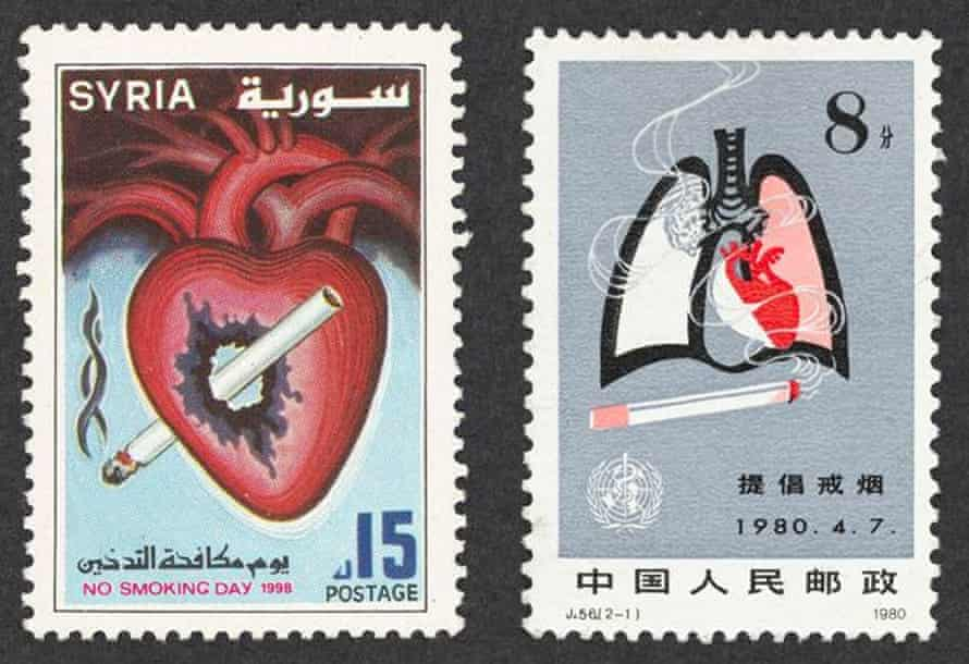Anti-smoking stamps.