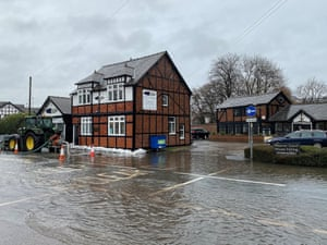 Flooding in Northwich, Cheshire