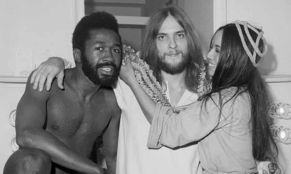 Ben Vereen, Jeff Fenholdt, and Yvonne Elliman, stars of Jesus Christ, Superstar, October 1971.