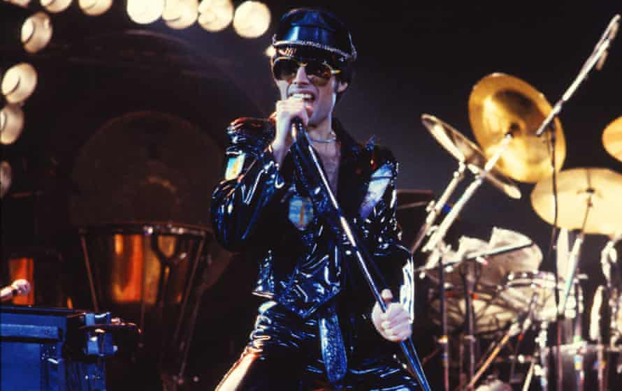 Full leather … on the News of the World tour in 1978 .