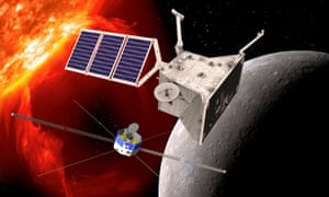 Artist's impression of the two BepiColombo orbiters.