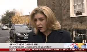 Penny Mordaunt, the international development secretary.