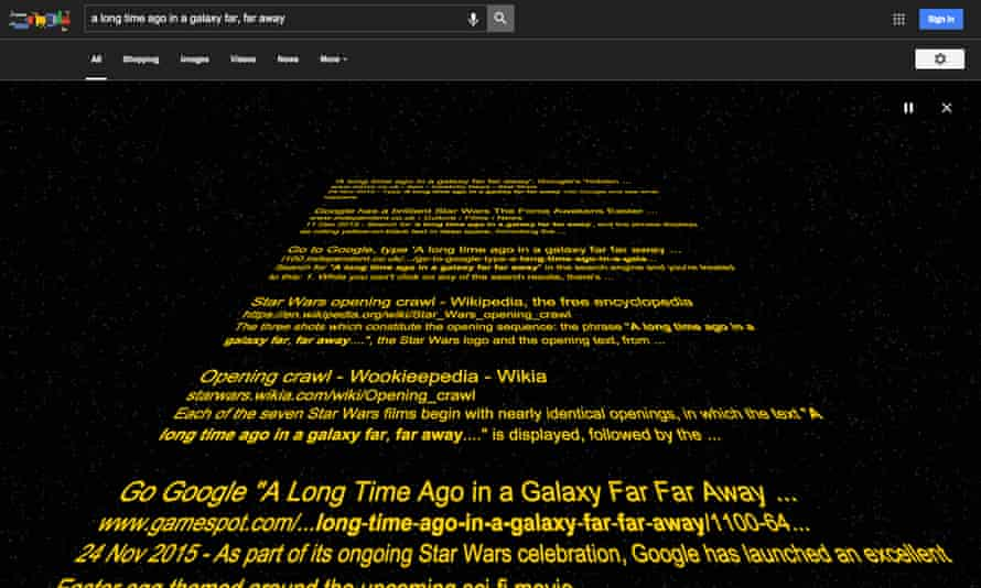 Google in the style of Star Wars
