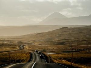 The road to Borgarnes.