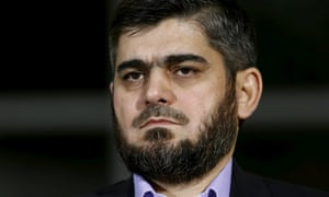 Mohammad Alloush, chief peace negotiator of Syria's mainstream opposition.