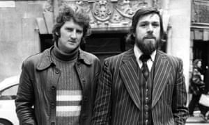 Dennis Warren, left, and Ricky Tomlinson in 1975. Both were jailed after being pickets in the 1972 strike by building workers.
