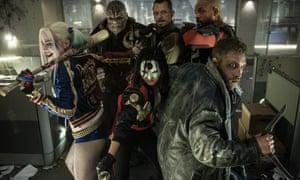 Mushroom cloud … Jai Courtney (far right) in Suicide Squad.
