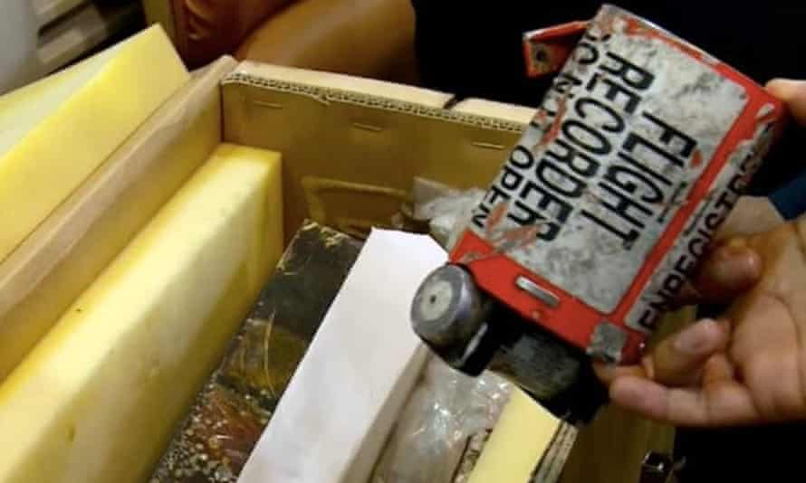 The flight recorder from the crashed Ukrainian plane.