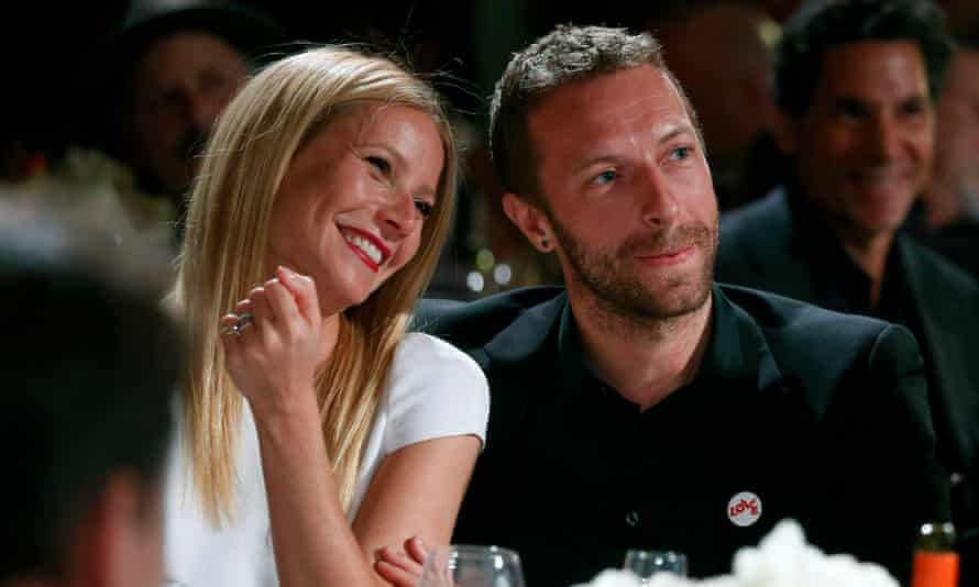 Gwyneth Paltrow and Chris Martin at gala function in Beverly Hills.