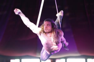 Augusts Dakteris, aerial straps and pole specialist