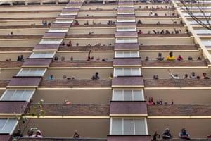 Locked-down residents of Hillbrow neighbourhood
