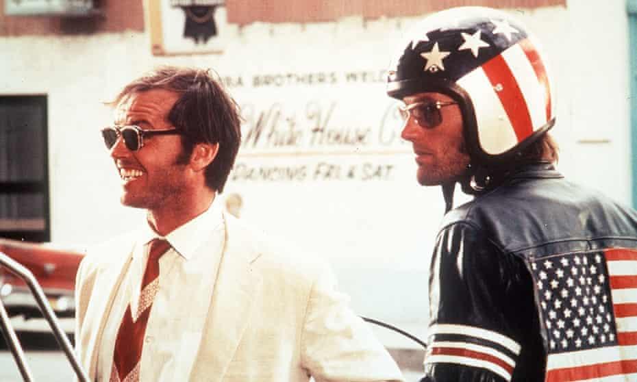 Jack Nicholson as George and Peter Fonda as Wyatt in Easy Rider.
