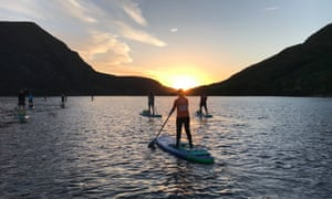 Psyched Paddleboarding night SUP trip, North Wales