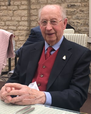 D-Day veteran Ken Peppercorn celebrating his 97th birthday in early May.