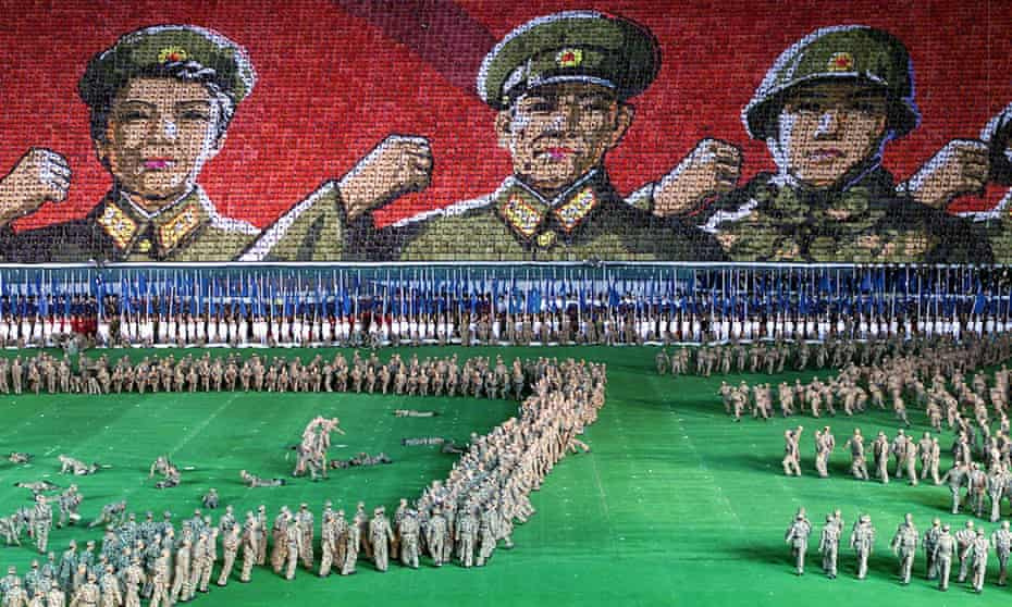 A performance staged for US secretary of state Madeleine Albright's visit to Pyongyang in 2000