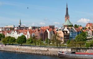 Szczecin isn't entirely pedestrian friendly, says one resident.
