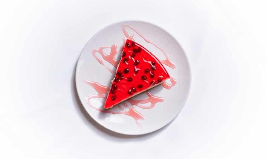 'It'll do': pomegranate cheesecake.