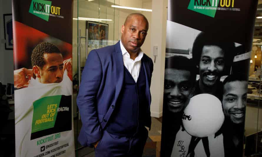 Troy Townsend, Kick It Out's head of development, speaks to young players about online abuse.