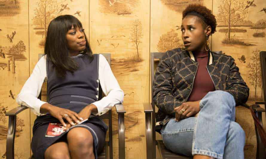 Issa Rae as Issa Dee and Yvonne Orji as Molly Carter, the stars of Insecure