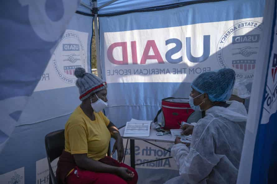 A mobile HIV clinic in South Africa