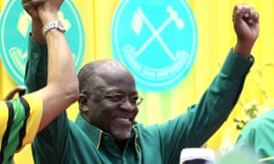 John Magufuli winning the vote in early November.
