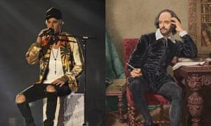 Justin Bieber and William Shakespeare