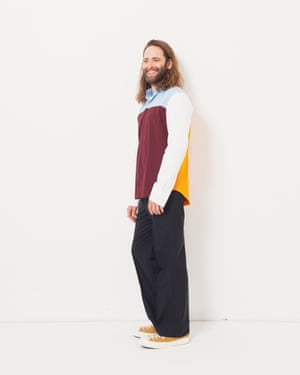 Model wears shirt, £310, by Marni, from matchesfashion.com. Trousers, £99, arket.com. Recycled trainers, £70, by Converse Renew, from converse.com