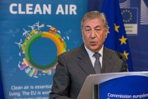 EU environment commissioner, Karmenu Vella