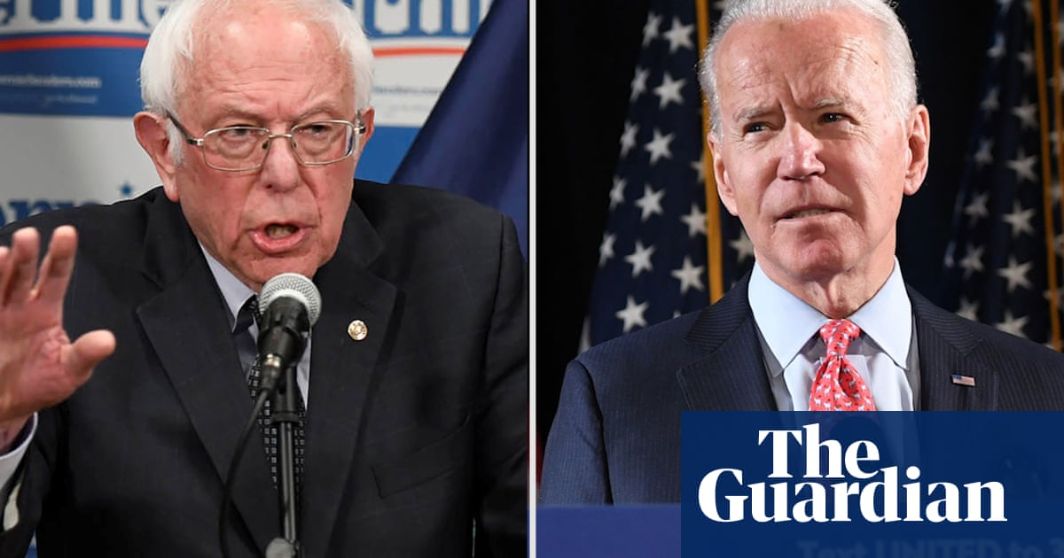 Biden and Sanders slam Trump administration after Europe travel ban – video