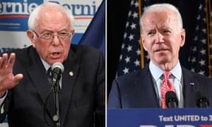 Bernie Sanders and Joe Biden
