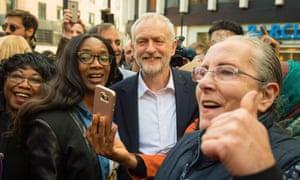 Labour leader Jeremy Corbyn in Croydon.