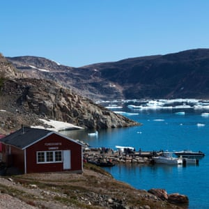Stunning view of the coastline in the settlement of Ittoqqortoormiit, Greenland.