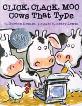 cover image for picture book Click Clack Moo Cows that Type by Doreen Cronin and Betty Lewin