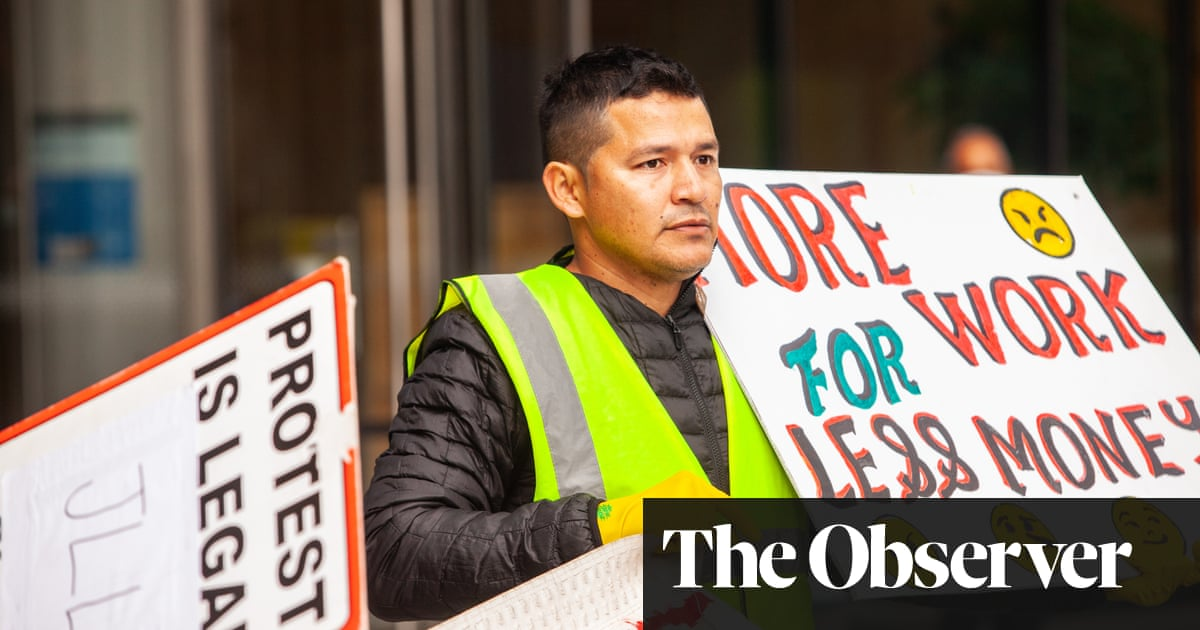 Facebook office cleaner who led protests at London site fears for his job