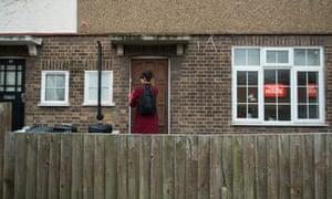 Labour activist knocking on door