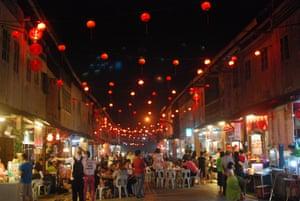 The Night Market in Siniawan Old Town, Kuching, Malaysia