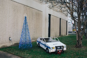 Zachary Police Station is decorated for Christmas.