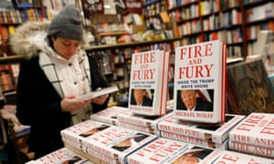 Copies of the book Fire and Fury: Inside the Trump White House on sale in Book Culture bookshop, New York, in January 2018.