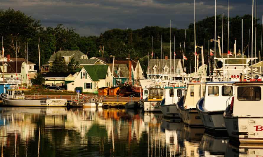 Boats in the harbour of North Rustico, Prince Edward Island, Canada, North America