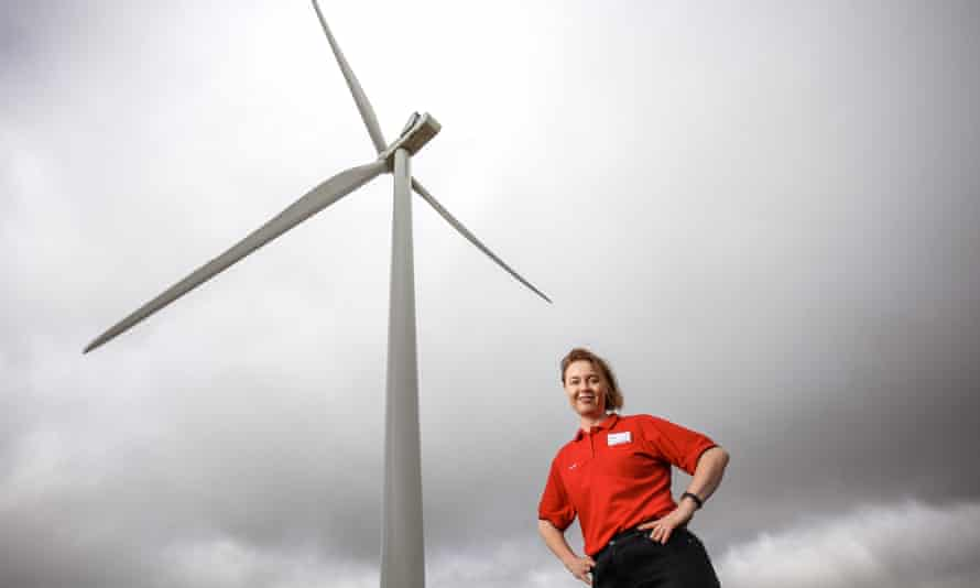 Coles head of energy, Jane Mansfield, at Lal Lal Wind Farm