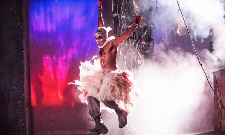 Hiran Abeysekera as Posthumous in Cymbeline at the Royal Shakespeare Theatre, Stratford-upon-Avon, 2016.